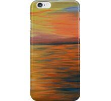 ocean blaze,  ocean sunset,  wall art, abstract art iPhone Case/Skin