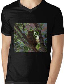 Midnight Owl Mens V-Neck T-Shirt