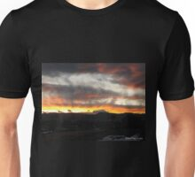 Sunset in the Rocky Mountain National Park Unisex T-Shirt
