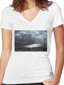 Shadows of Clouds  Women's Fitted V-Neck T-Shirt