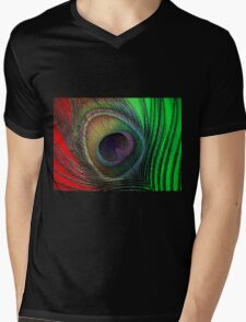 Feather Mens V-Neck T-Shirt