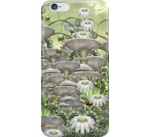 Mushrooms and daisies iPhone Case/Skin