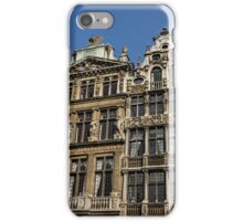 Postcard from Brussels - Grand Place Facades iPhone Case/Skin
