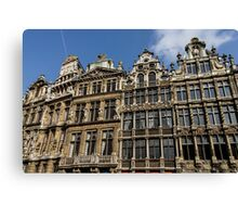 Postcard from Brussels - Grand Place Facades Canvas Print