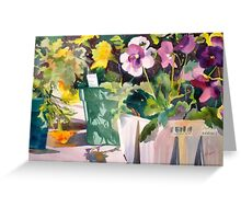 Jumbo Pansies and Marigolds Greeting Card