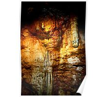 Tantanoola Dolomite Cave (Reflections off a Pond)  Poster