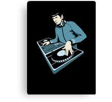 Cool Spock DJ party Canvas Print