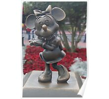 Bronze Disney Figure of Minnie Mouse Poster