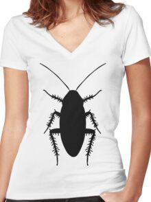 Cockroach Women's Fitted V-Neck T-Shirt