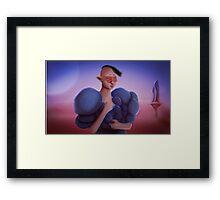 Portrait Of A Masked Elf Girl In Tikos Moon Framed Print