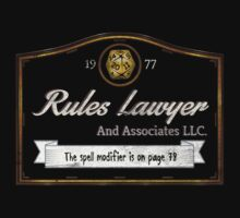 Rules Lawyer Tee by KennefRiggles