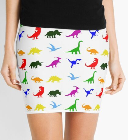 Colourful Dinosaurs Pattern Mini Skirt