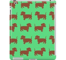 Brown Dachshund Printmaking Art iPad Case/Skin