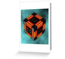 Hexahedron Greeting Card