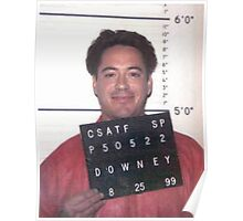 robert downey jr. mugshot Poster