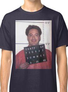 robert downey jr. mugshot Classic T-Shirt