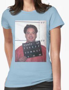 robert downey jr. mugshot Womens Fitted T-Shirt