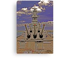 USS Missouri 16 inch guns (front view) Canvas Print