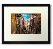 Alley in Lisbon Framed Print