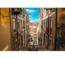 Alley in Lisbon Photographic Print