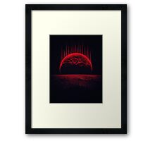 Lost Home! Colosal Future Sci-Fi Deep Space Scene in diabolic Red Framed Print