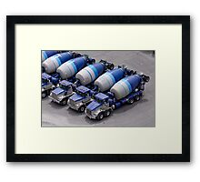 Cement repeated. Framed Print