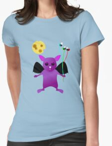 Flying Batty Womens Fitted T-Shirt