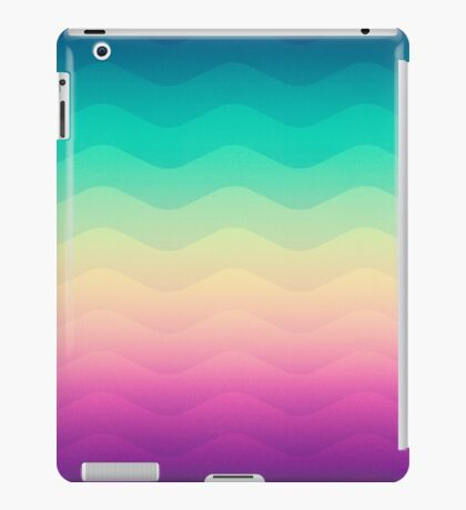 Abstract Geometric  Candy / Rainbow Waves Pattern (Multi Color) iPad Case/Skin