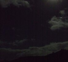 Winter Moon above Patau by jamesdevere.com Art Clothing Gifts  Robot Sydney