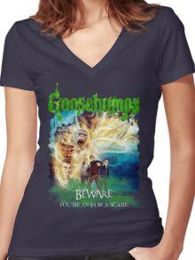 Goosebumps The Movie Women's Fitted V-Neck T-Shirt