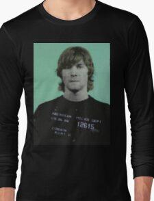 kurt cobain mugshot Long Sleeve T-Shirt