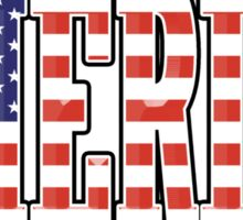 AMERICA, AMERICAN, Patriotic Type, Patriot Type Sticker
