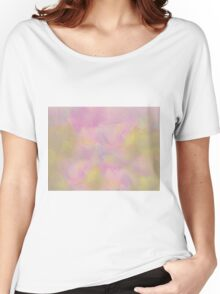Soft Pastel Feathered Abstract Women's Relaxed Fit T-Shirt