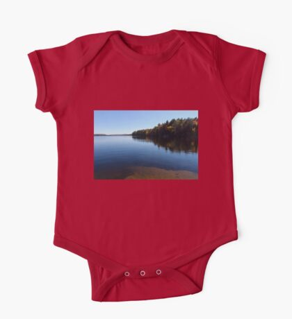 A Blue Autumn Afternoon - Algonquin Lake Serenity One Piece - Short Sleeve