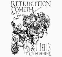 Apocalypse, Four Horsemen of the Apocalypse, Durer, Retribution Cometh & Hell's Close behind! Biblical T-Shirt