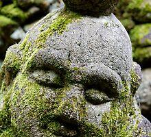 Buddha's Peaceful Disciple at Otagi Nembutsuji by nekineko