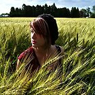 in the wheat field.  by amanda dee