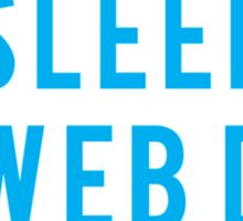 Eat Sleep Web Dev Repeat BLUE clear icons Sticker