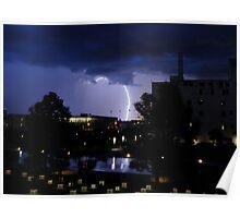 Downtown Lightning Poster