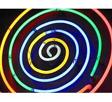 Neon Vortex Photographic Print