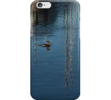 Young Red-Necked Grebe on Silver iPhone Case/Skin