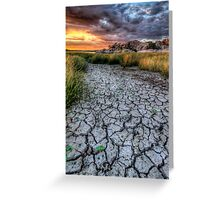 Cracked Sunset Greeting Card