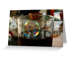 Tiny bubbles... Greeting Card