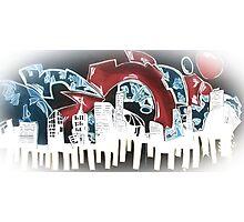 City Funk - Abstract Street Art Design Photographic Print
