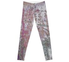 Mauve Grunge Crackle Leggings