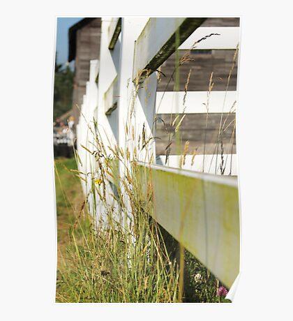 barn yard fence Poster