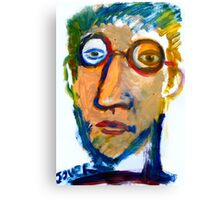 self in oil on paper Canvas Print