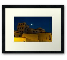 Magical Rome, Italy - Yellow Facades and Moonlight Framed Print
