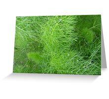 green fuzz (Komachi) Greeting Card