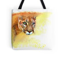 Mountain Lion Oil Pastel Tote Bag